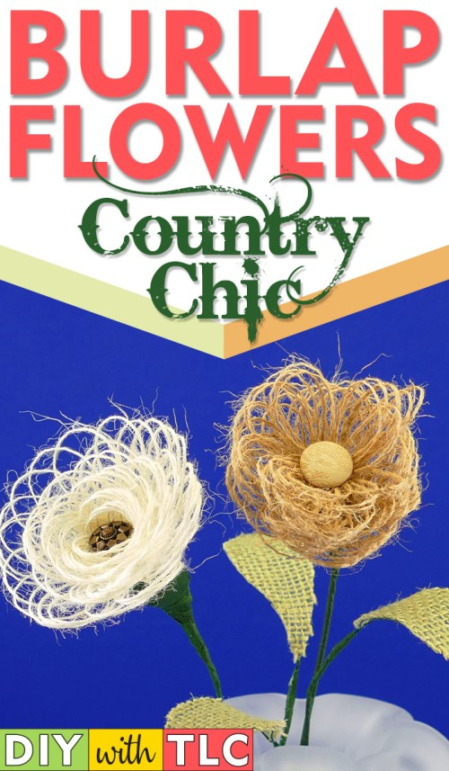 Learn how YOU can make these lovely DIY Burlap Flowers | easy step-by-step photo tutorial | fabric flowers | #burlap #diy #flowers #spring