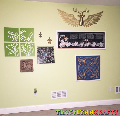 My art wall has art I have made or was made for me