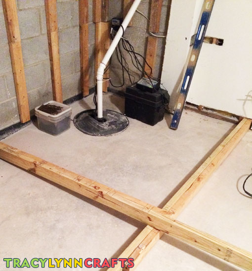 The closet is designed to hide the sump pump and insulated to keep it quiet