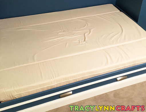 DIY zip-on canvas covers to protect memory foam mattress