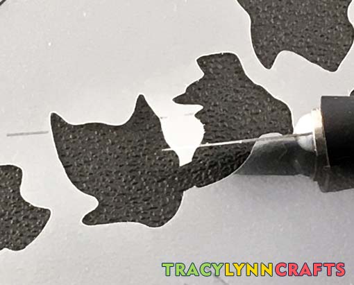 Learn how you can repair your stencil when you have a cut or a tear