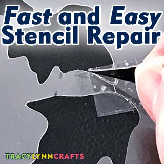 Learn this fast and easy method to repair a stencil