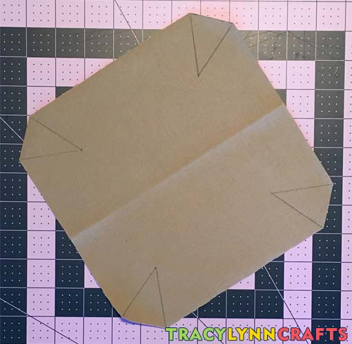 For each of the fabric pieces, mark the corner darts