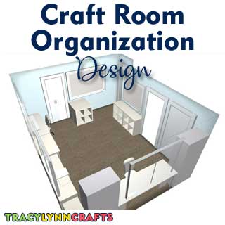 Designing your craft room organization and transformation can be exciting