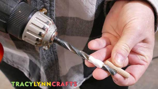 To make sure you only drive to a specific depth, wrap tape around the drill bit to mark the drilling depth