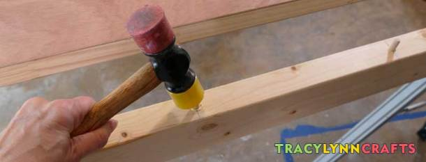 Glue in the dowel pins