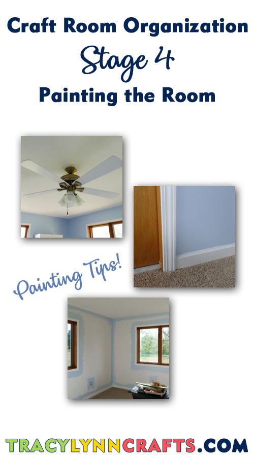 Stage 4 - Painting the craft room | #diy #homedecor #craftroom #craft #room #organization #wallpaint #painting