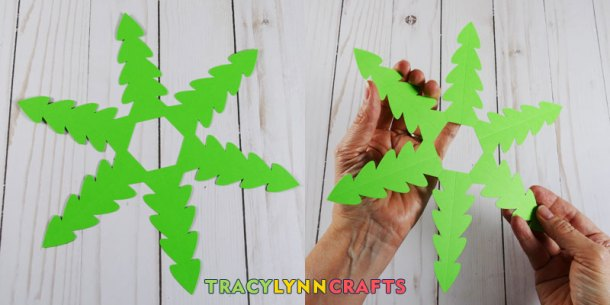 Cut out the tree pattern and score along the score lines