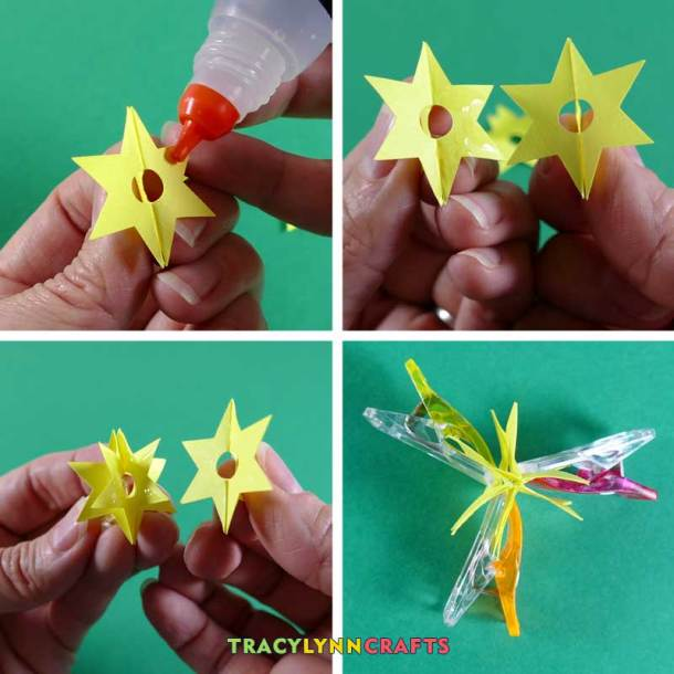Assemble the star parts into the whole star