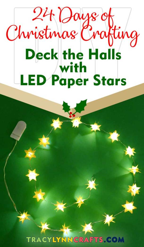Deck the Halls with the LED Paper Stars | #diy #led #christmas #stars