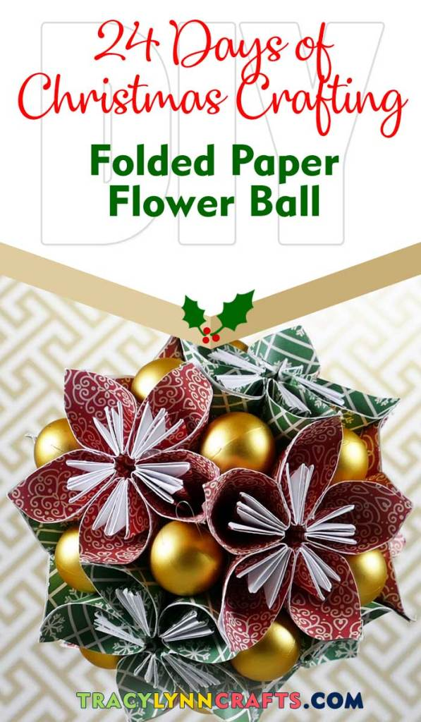 These origami paper flowers can be made into a holiday decoration using red and green papers | #diy #christmas #paper #flower