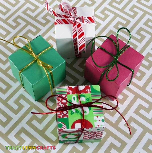 You can quickly and easily make these adorable boxes and fill them with treats
