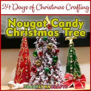 This candy nougat tree is easy and fun to make