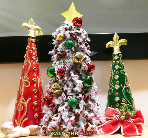The nougat candy Christmas tree makes a delicious decoration or gift