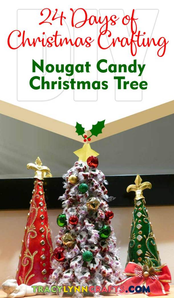 This candy nougat tree is easy and fun to make | easy step-by-step photo and video tutorial | #diy #winter #christmas #nougat