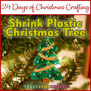 You can decorate your Christmas tree with mini-decorated shrink plastic Christmas trees