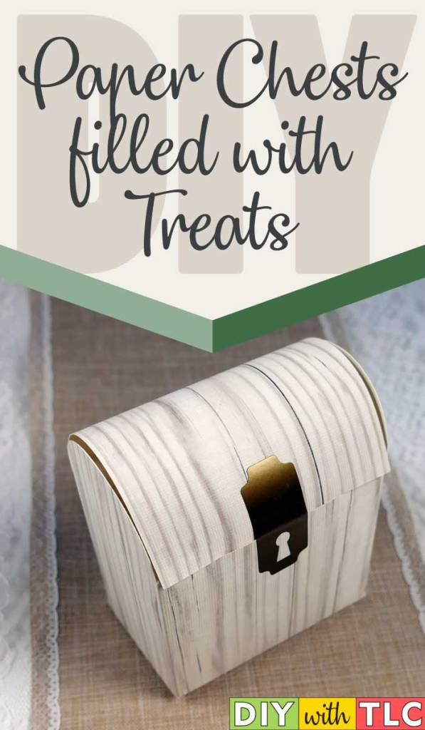 You can make these paper chests to give treats to friends and family for 12th Night or any time of year| #diy #paper_boxes #cricut #paper #12th_Night
