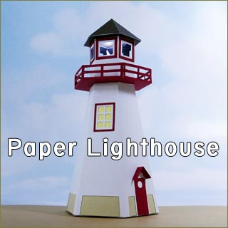 Make your own 3D paper lighthouse to light the way