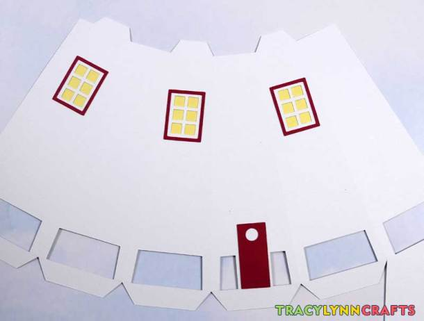 3D Paper Lighthouse - The window frames and door