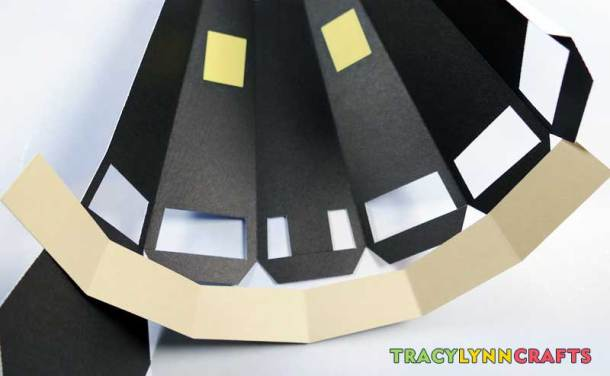 3D Paper Lighthouse - Fold the lighthouse walls and the stone colored paper along the score lines