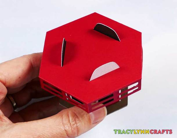 3D Paper Lighthouse - The top tabs inserted into the slots in the railing