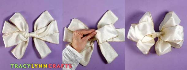 Loopy Burlap Flower Valentines Wreath - Separate the loops of the bow and poof them out