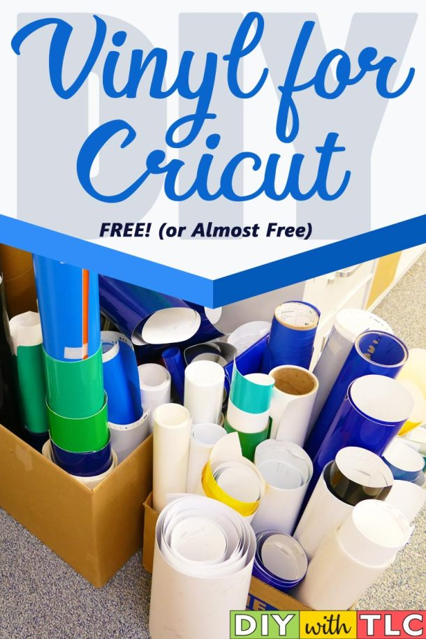 Learn how you can get vinyl for Cricut projects for FREE or nearly free! | #diy #cricut #vinyl #silhouette #vinyl_for_cricut #cricut_explore #cricut_maker #cricut_projects #cheap_vinyl
