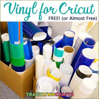Vinyl for Cricut projects for FREE or nearly free!