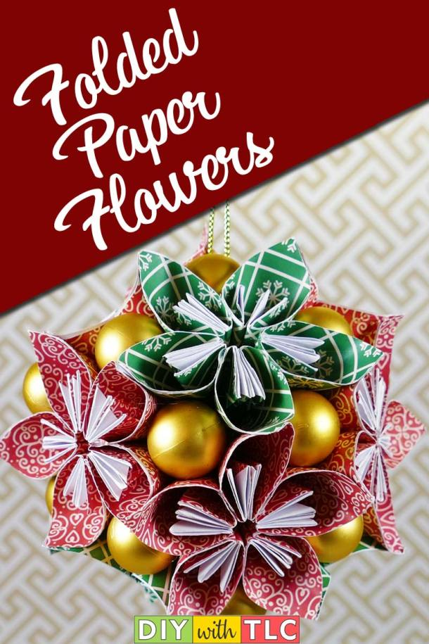 These origami folded paper flowers can be made into a home decoration | #diy #paper #flower #folded_paper_flower #paper_flower