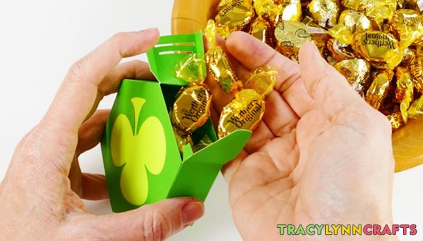 Time to fill your shamrock boxes with shiny gold treats