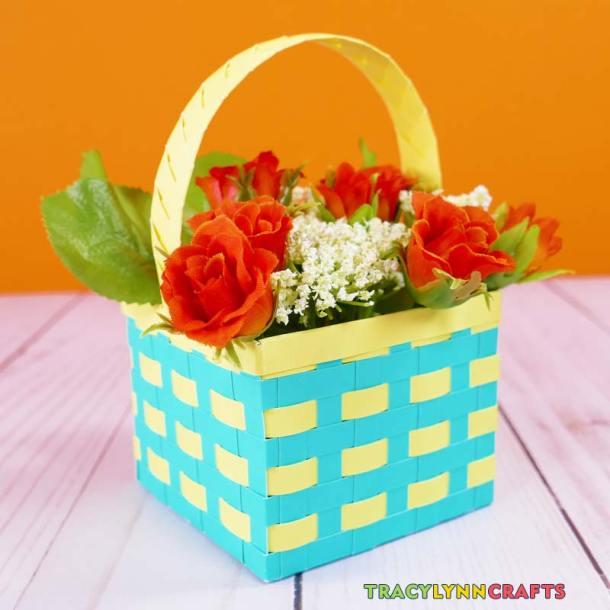 Woven Paper Springtime Basket