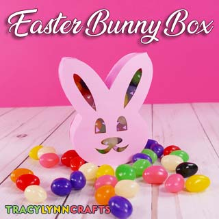 You can make these folded and glued paper boxes in the shape of an Easter bunny for a decorative way to hand out treats