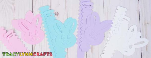 Four sets of Easter Bunny Box cutouts