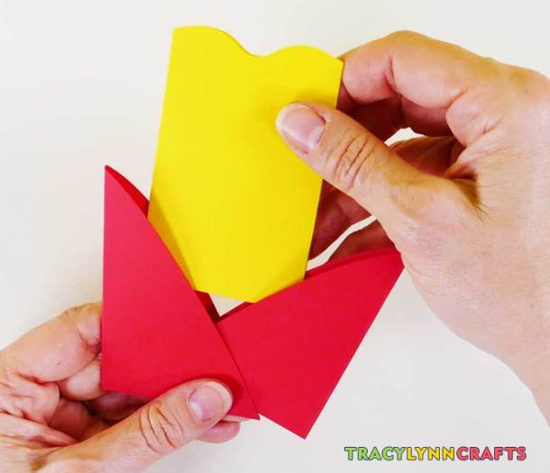 Slide the inner envelope petals into the outer petals