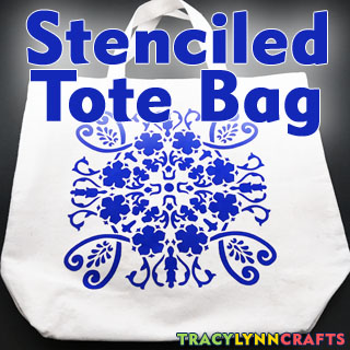 Decorate Your Plain Canvas Tote Bag with Stenciling