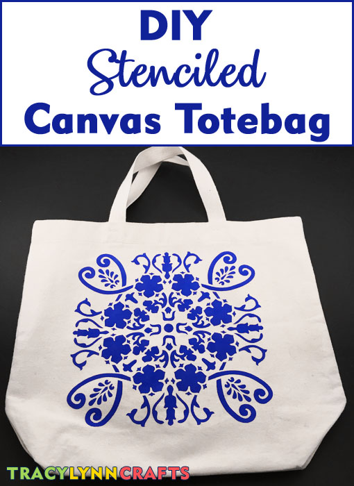 DIY Stenciled Tote Bag