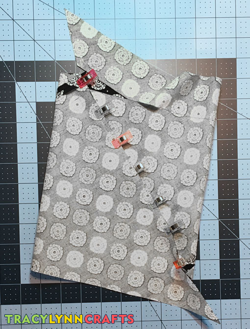 Pin or clip the edges then sew.