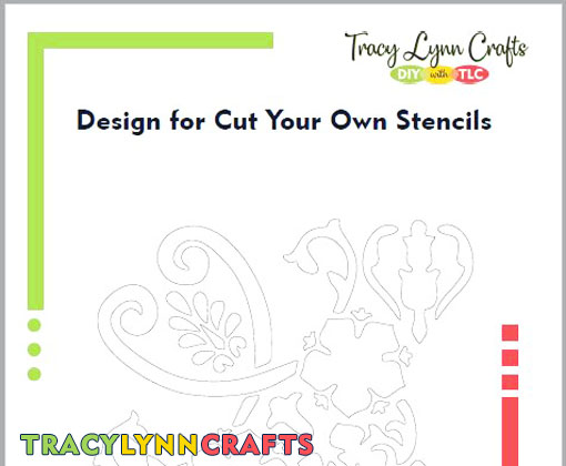 Design for cut your own tote bag stencil