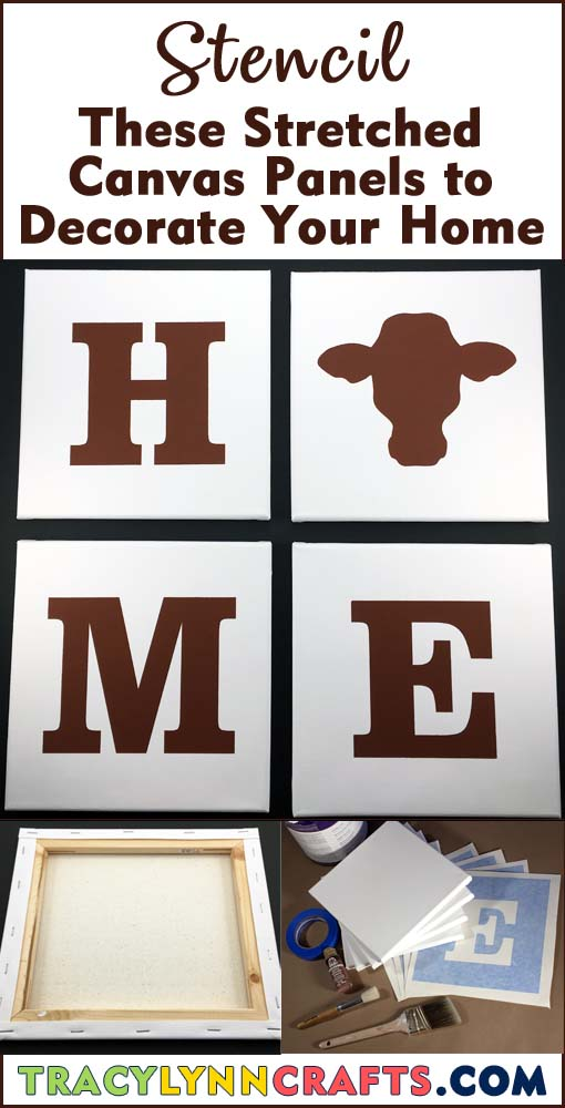 Decorate your home with these easy DIY stenciled canvas panels | #diy #home_decor #stencil #stenciling #cow