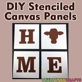 DIY Stenciled Canvas Panels