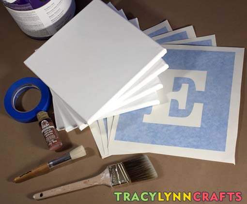 Stenciled HOME panels you can make to decorate your home