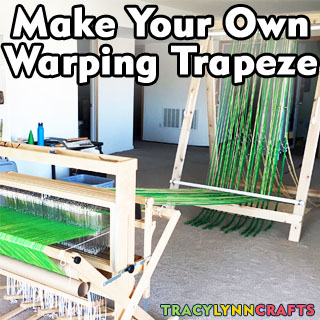 Make your own warping trapeze and warping frame