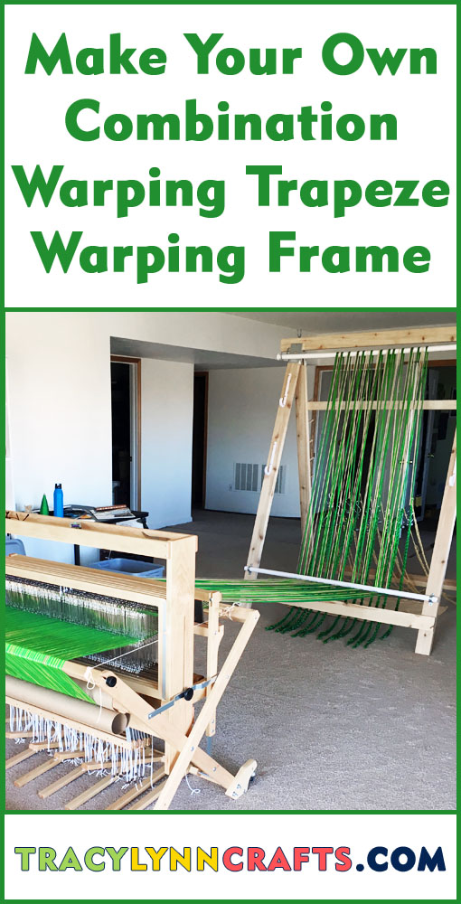 You can make your own warping trapeze to produce even tension across your warp | #weaving #diy #warping_trapeze