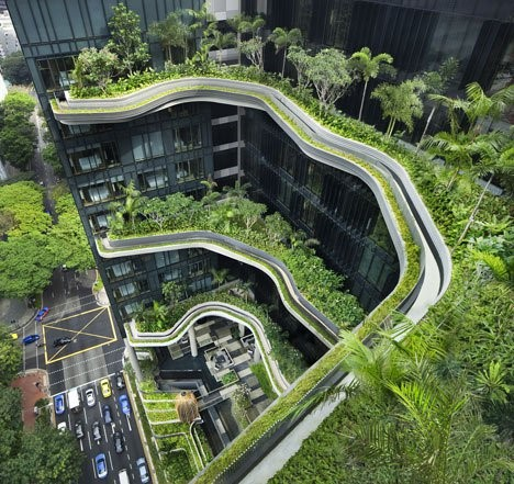 Het gebouw wordt een verticale tuin