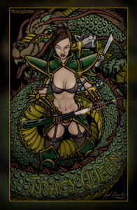Dragon, Tracy Queen, & Nikola the Racoon