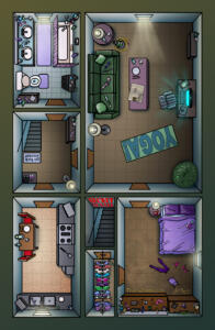 Tracy Queen Apartment Map