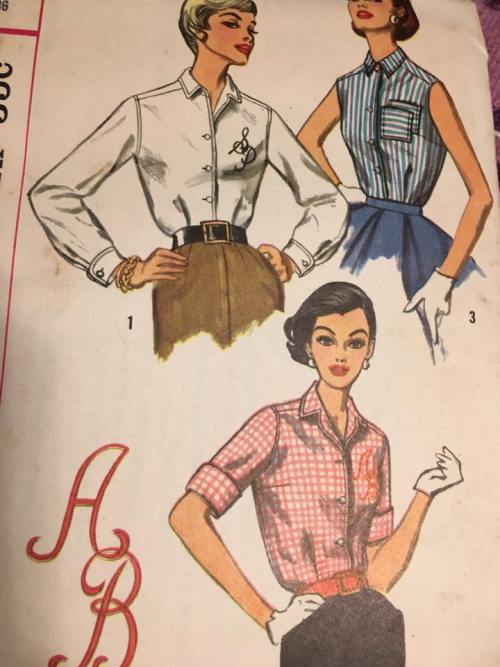Simplicity 2195 Blouse WWII, 1940s Vintage Pattern