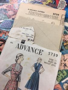 Advance 5739 Jumper Vest Weskit Skirt 1940s Vintage Pattern