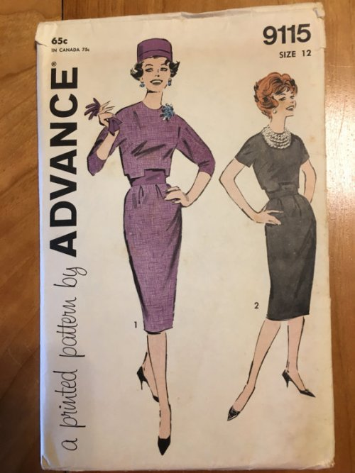 Rare Advance 9115 1960s Jackie O Suit Pattern