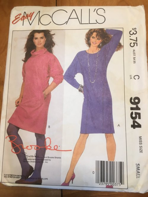 McCalls 9154 Brooke Shields Sweater Dress Pattern